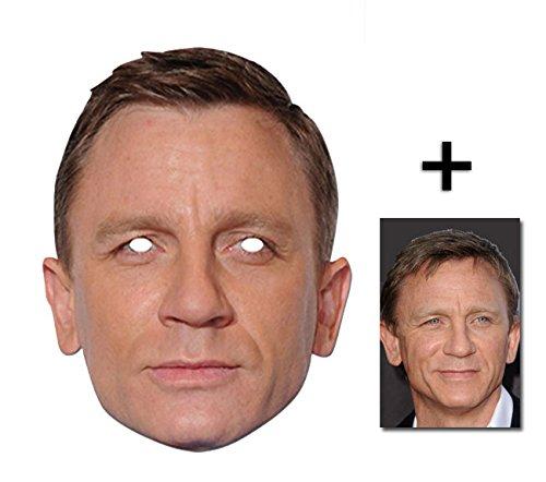 BundleZ-4-FanZ Fan Packs Daniel Craig berühmtheit James Bond Single Karte / Pappe Partei Maske Enthält 6X4 (15X10Cm) starfoto