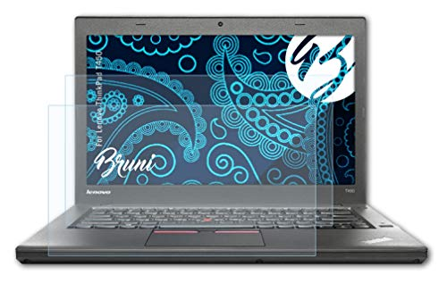 Bruni Schutzfolie kompatibel mit Lenovo ThinkPad T450 Folie, glasklare Bildschirmschutzfolie (2X)