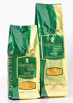 Greenwell Farms - 100% Kona Coffee - Full City Roast - 16oz - WHOLE BEAN