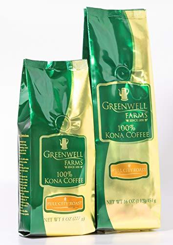 Greenwell Farms - 100% Kona Coffee - Full City Roast - 16oz - GROUND