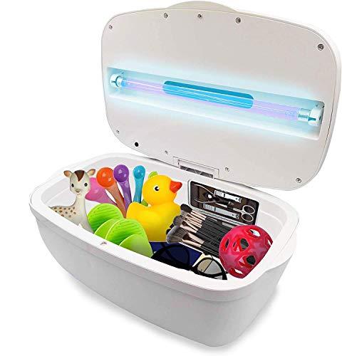 JJ CARE UV Light Sanitizer Box, Large UVC Box, UV Sterilizer Box 99% Sterilization for Baby Items, Remote, Keys, Nail & Beauty Tools, Portable UV Phone Sanitizer, UV Disinfection Box