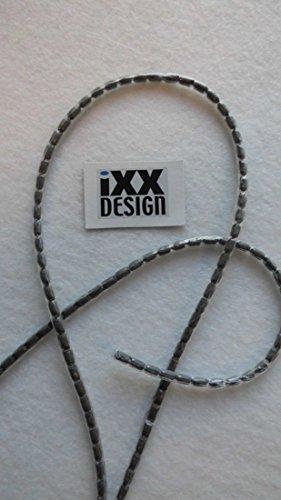 IXX-Design NEU !!! Bleiband, Bleischnur PVC ummantelt, zur Beschwerung von Netzen, Tischdecken, Duschvorhängen, 40 Gramm/m, Preisangabe je Meter, bestimmen Sie die gewünschte Länge selbst