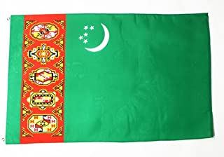 TURKMENISTAN OLD FLAG 3' x 5' - 薄荷绿扁平条 90 x 150 厘米 - 横幅 3x5 英尺 - AZ FLAG