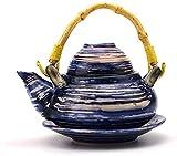 DFGBXCAW Hervidor de té con infusor, Nueva vajilla de cerámica, Olla de Sopa de mariscos, Olla con Mango de Tetera Individual, Cocina Creativa