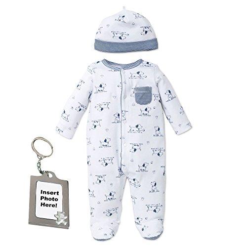Little Me Puppy Toile Footed Sleeper Sleep N Play Pajamas - White -...