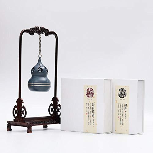 TaoRan Räuchergefäß Räuchergefäß aus reinem Kupfer für hängende Hebezüge-Räuchergefäß + Blumenduft + erster Duft
