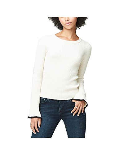 Aeropostale Womens Bell Sleeve Pullover Sweater, Off-White, Large