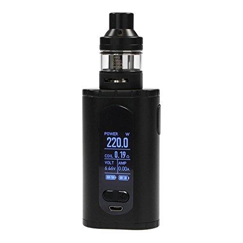 Eleaf Invoke Kit 220 Watt mit ELLO T Clearomizer 2 ml / 4 ml, Riccardo e-Zigarette, schwarz