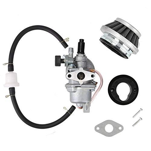 Trintion Vergaser mit Luftfilter Benzinfilter Schlauch Dichtung Zündkerze für 2 Takt 49CC Mini Motorrad ATV Quad Dirtbike Pocketbike