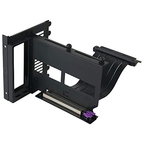 Cooler Master Master Accessory Vertical Graphics Card Holder Kit Version 2 with Premium Riser Cable PCI-E 3.0 x16-165mm, Compatible with All Standard ATX Chassis (MCA-U000R-KFVK01)