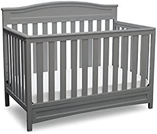 Delta Children Emery 4-in-1 Convertible Baby Crib, Grey