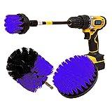 Abracing 4-TLG. Scrubber Cepillo de Limpieza Extensión Set con Accesorio Largo para Baldosas de Baño