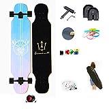 QAZXS Longboard Komplettes Skateboard Board Dance Board mit ABEC...