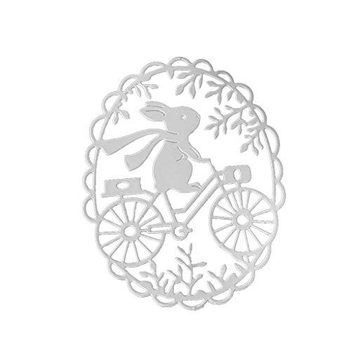 Easter Bunny Wreath Metall Stanzschablonen Stanzschablone DIY Für Scrapbooking, Kartenherstellung, Papierhandwerk, Themeneinladungen, Albumdekoration, Bilderrahmen