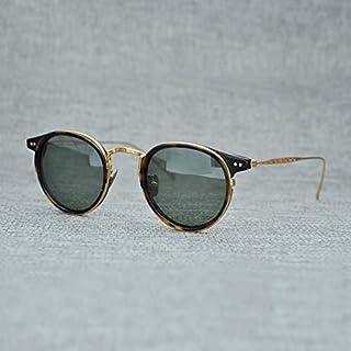 LKVNHP Titanio Gafas De Sol Polarizadas Hombres Marca Vintage Acetato Gafas De Sol Mujeres Lente De