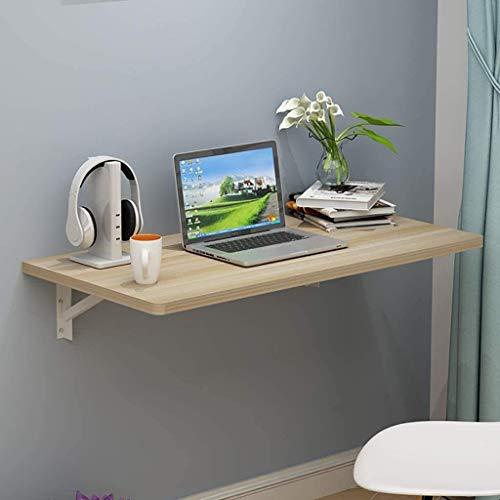 Mesa Plegable montada en la Pared para la Cocina de la Oficina en casa, escritorios de Estudio para niños con Aprendizaje informático (Color: Color Madera) (tamaño: 60x50cm / 24X20in)