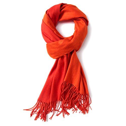 LEIDAI sided sólido color salvaje lana caliente chal