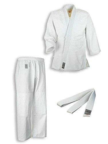 """Traje de judo """"Bonsai"""" blanco Correa para niños y principiantes de Ju-sports, 9016, gr, 110-150, color Blanco - blanco, tamaño 150"""