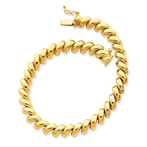 14k Yellow Gold San Marco Chain Necklace Pendant Charm Fine Jewelry For Women Gifts For Her