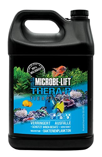 MICROBE-LIFT TheraP - (Qualitäts-Bakterienpräparat, zur optimalen Tierpflege in jedem Meerwasser & Süßwasser Aquarium, für optimale Gesundheit und Wachstum, reduziert Ausfälle, 100 % biologisch, Wasseraufbereiter, ausreichend für 50.400 Liter), 3785 ml