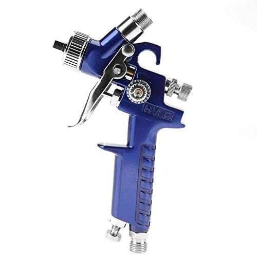 Mini pistola de pulverización, pistola de pulverización neumática duradera profesional 125 ml Mini pistola de pulverización neumática, reparación de pintura para coche(H-2000A 1.0mm)