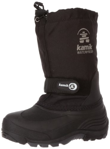 Kamik Waterbug 5 Cold Weather Boot (Toddler/Little Kid/Big Kid),Black,13 M US Little Kid