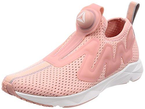 Reebok Sneaker Coole Damen Schuhe Pump Supreme Tape Turnschuhe Freizeitschuhe Rosa/Weiß, Größe:40
