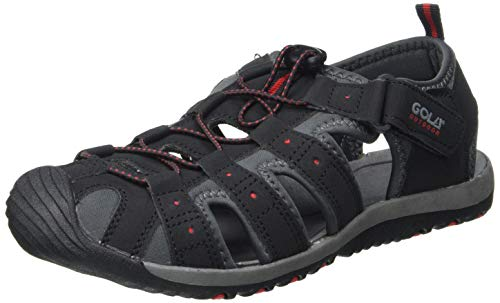 Gola Herren Shingle 3 Sport Sandalen, Schwarz (Black/Grey/red Br), 49 EU