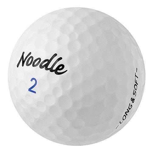 PEARL GOLF Taylor Made Noodle Long & Soft - AAAA - weiß - gebrauchte Golfbälle - 36 Lake Balls