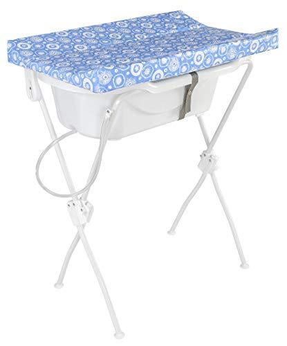 Banheira com Trocador Floripa, Tutti Baby, Azul Essencial