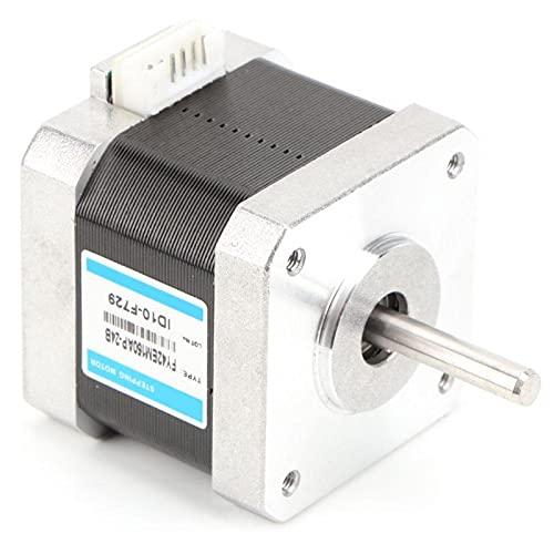 Shipenophy Motor Paso a Paso de Doble Fase 24V / 1.5A Herramienta eléctrica Nema 17 para máquina de Marcado para Equipos automáticos