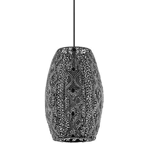 EGLO Lámpara colgante Riyadh, 1 lámpara de techo vintage, oriental, bohemia, lámpara de techo de acero en color negro envejecido, lámpara de comedor, lámpara de salón colgante con casquillo E27