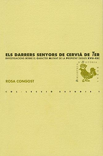 Els darrers senyors de Cervià de ter (BHR (Biblioteca d