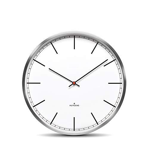 Huygens - One - Silent - Wandklok - Roestvrij staal - Wit Index