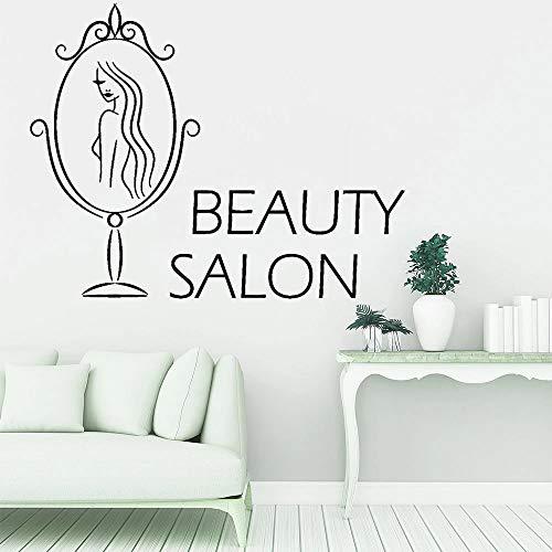 HGFDHG Salón de belleza spa pegatinas de pared a la moda de las mujeres de la habitación de la decoración de la pared de vinilo de la