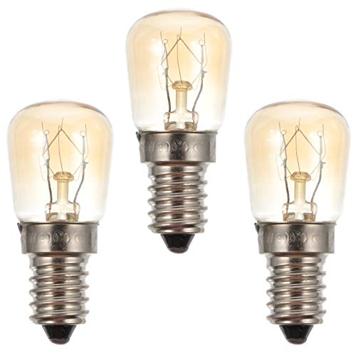 SOLUSTRE 3 Stück 25 Watt Gerät Backofen Glühbirne Ersatz Hochtemperatur 300 Grad Beständige Glühlampen E14