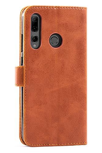 Mulbess Handyhülle für Honor 20 Lite Hülle, Leder Flip Case Schutzhülle für Huawei P Smart+ 2019 / Honor20 Lite Tasche, Cognac Braun - 4