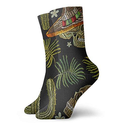 QUEMIN Frau Starfish und Seashell am Summer Beach Unisex Bequeme Crew Socken Casual Socke für Sport Wandern Laufen 11,8 Zoll / 30 cm