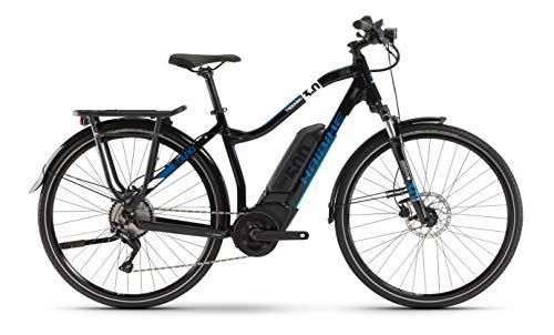 "HAIBIKE SDURO Trekking 3.0 Bosch Elektro Fahrrad 2020 (28\"" Damen Trapez L/52cm, Blau/Weiß/Schwarz)"