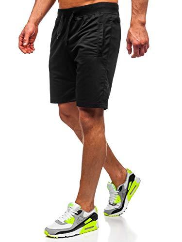 BOLF Herren Hose Kurzehose Sporthose Street Style Basic Sport Style täglicher Stil J.Style DK07 Schwarz XXL [7G7]