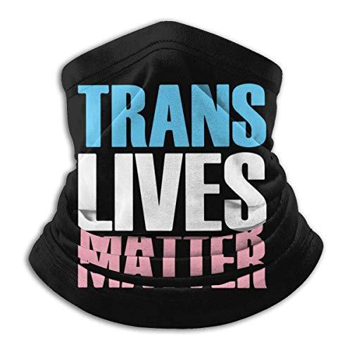 Dydan Tne Trans Lives Matter Hombres y Mujeres Calentador de Cuello Headwear Máscara de Bufanda Facial para Snowboard