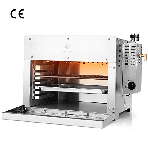 CRZDEAL 880 Grad Steak Gasgrill - XXL Beef Maker mit Elektroimpulszündung (4.5kw 15.9 kg), Fortschrittliche Infrarottechnologie, Edelstahl inkl. 5 Grillzubehör, Geeignet für Partys
