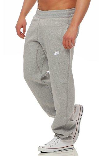 Nike Hombre Pantalón Jogger Polar Correr Chándal Bajos Gym Sudaderas - algodón, Gris, algodón, 20% poliéster 80% algodón 80% algodón, Hombre, Mediana
