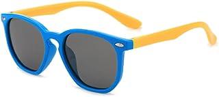 Gosunfly - Gafas de sol para niños de moda polar square box sunglasses-C9-dark blue frame yellow leg_Gray tablet