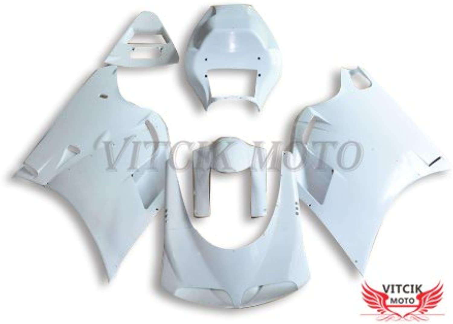 VITCIK (Fairing Kits Fit for Ducati 996 748 916 998 Biposto 1996 1997 1998 1999 2000 2001 2002) Plastic ABS Injection Mold Complete Motorcycle Body Aftermarket Bodywork Frame (Unpainted) ABB1