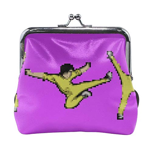 Kung Fu Master Fashion Women 'S Cute Leather Coin Purse Pouch Hasp...
