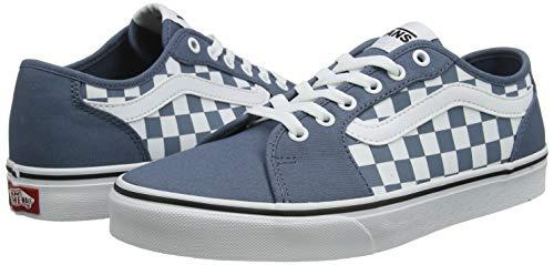 Vans FILMORE Decon, Scarpe da Ginnastica Uomo, Multicolore ((Checkerboard) Blue Mirage/White W50), 42 EU