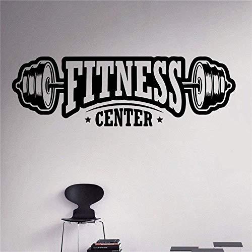 Vinyl Wandtattoo Gym Fitness Sport Gesundheit Schönheit Schild Aufkleber Dekor Club Room Interior Design Kunst Wandbilder H57Cm X B81Cm