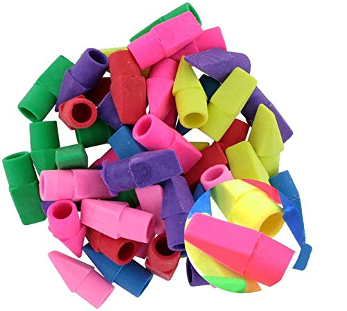 180PCS IFfree Eraser Caps Assorted Colors,Fun Color for Fun Learning New.Assorted Colors-Red, Yellow, Green, Blue, Purple, Orange erasers,erasers Bulk,erasers for Kids,Cap erasers,Green Eraser