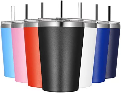 VEGOND 12oz Tumbler with Lid and Straw Stainless Steel Tumbler Cup Vacuum Insulated Double Wall product image